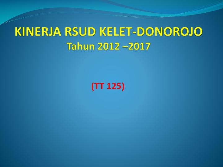 KINERJA GABUNGAN RS.KELET DONOROJO (TT 125) TRIWULAN I TH.2017