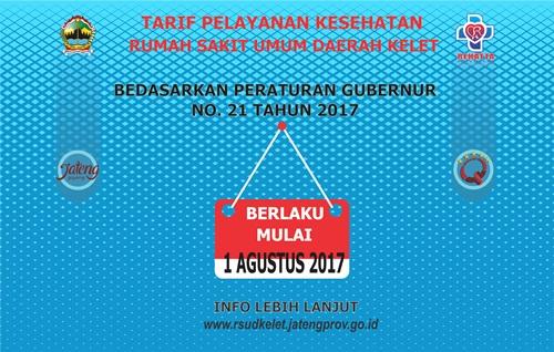 Tarif Pelayanan Kesehatan RSUD Kelet Bedasarkan Pergub Jawa Tengah No. 21 Tahun 2017